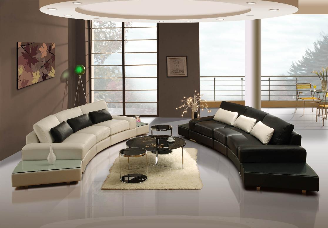 modern black and white sectional