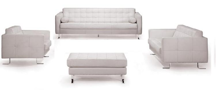 white small modern sofa set