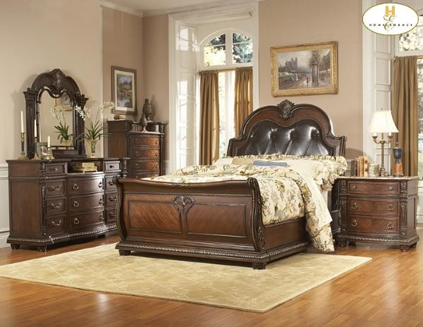 traditional classic solid bed